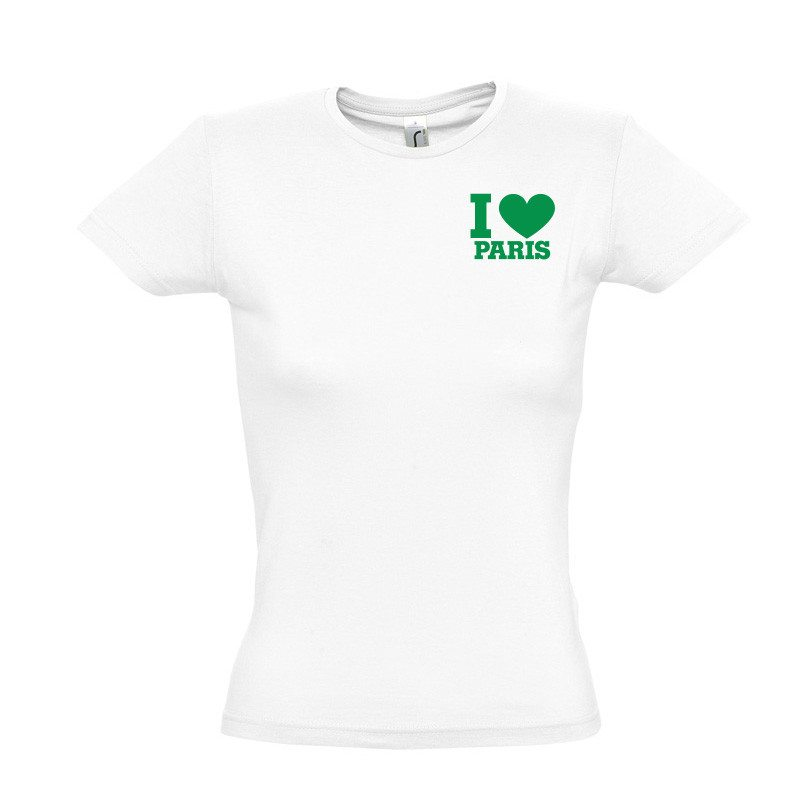 "Camiseta ""I love ...."" personalizable"