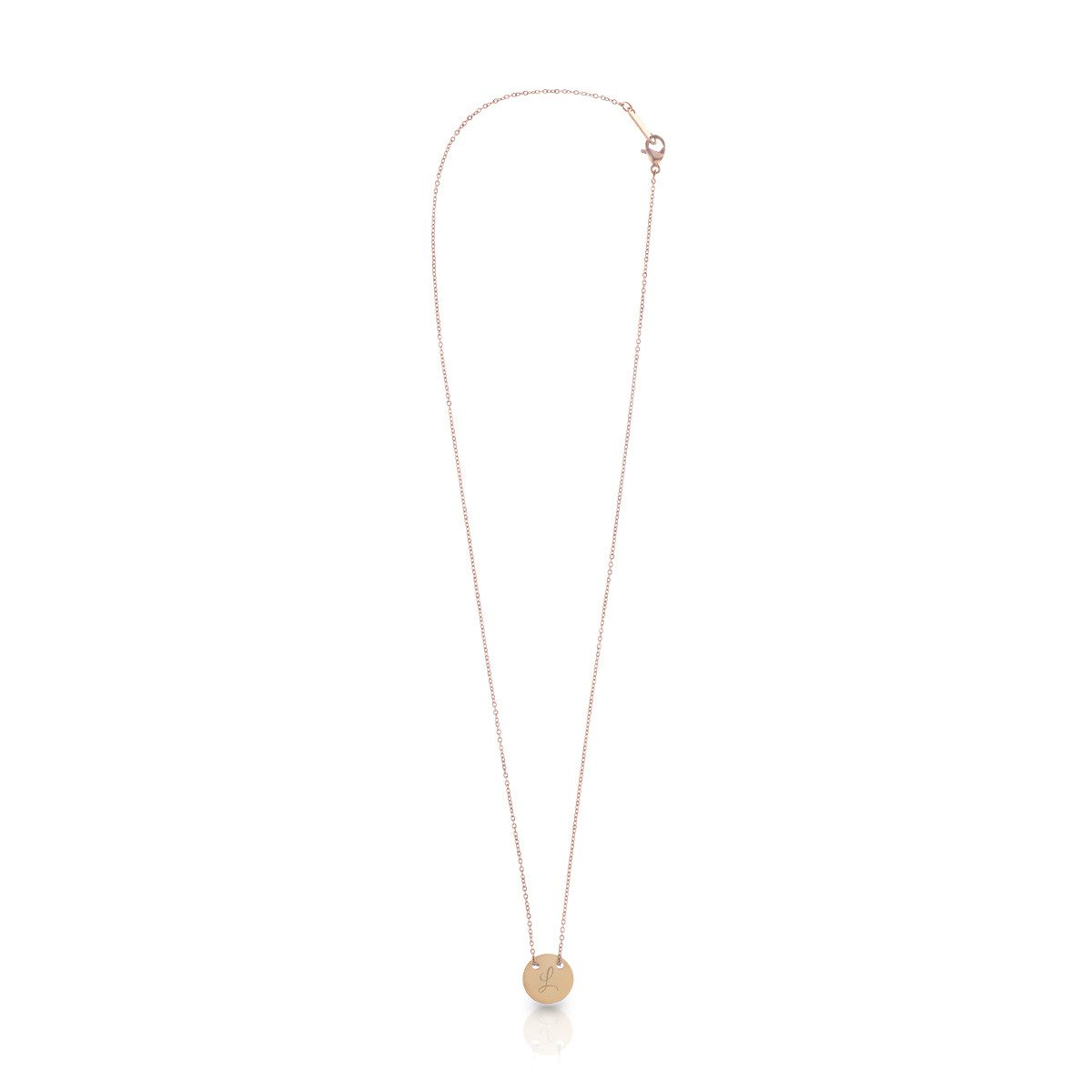 """PERSONALIZED """"GOOD LUCK"""" NECKLACE WITH INITIAL"""