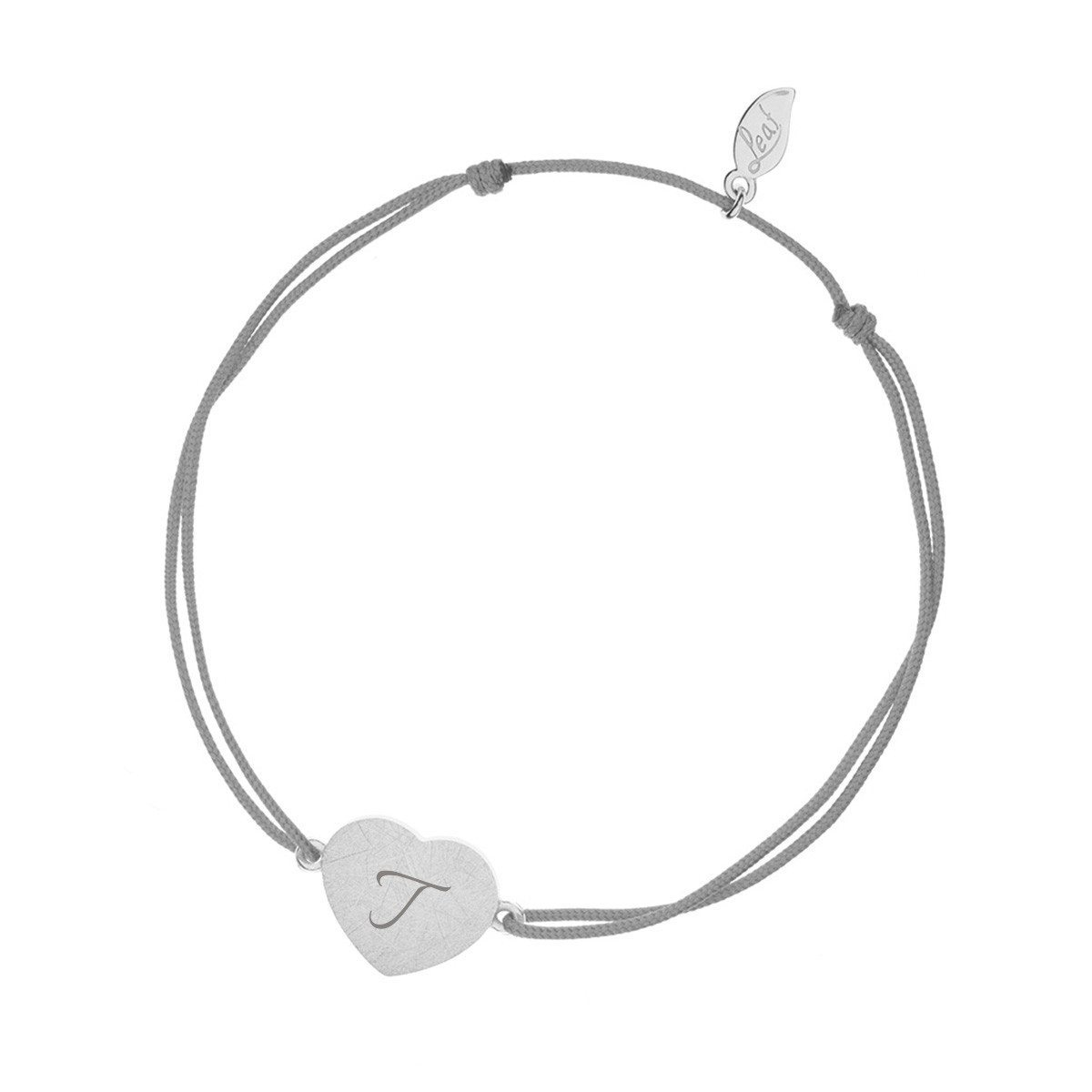 PERSONALIZED SILVER HEART-DISC BRACELET WITH INITIALS