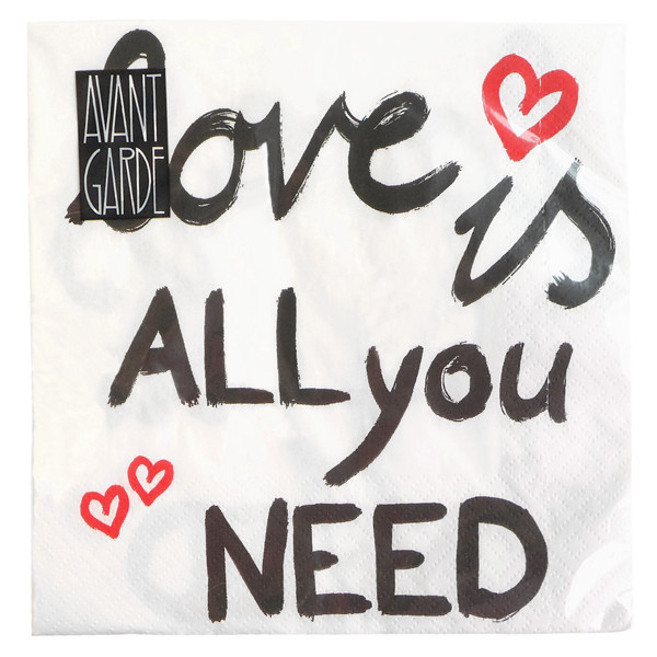 """Servilletas """"Love is all you need"""""""