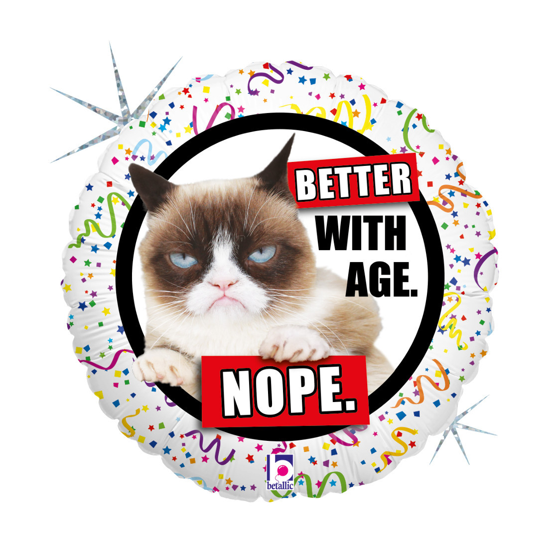 GRUMPY CAT BETTER WITH AGE 46 CM/18 ""