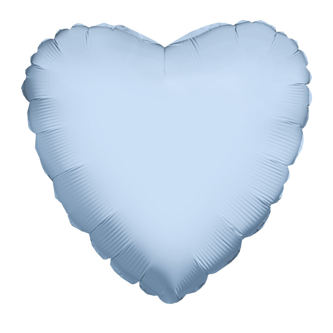 HERZ HELLBLAU 46 CM / HEART LIGHT BLUE 18""