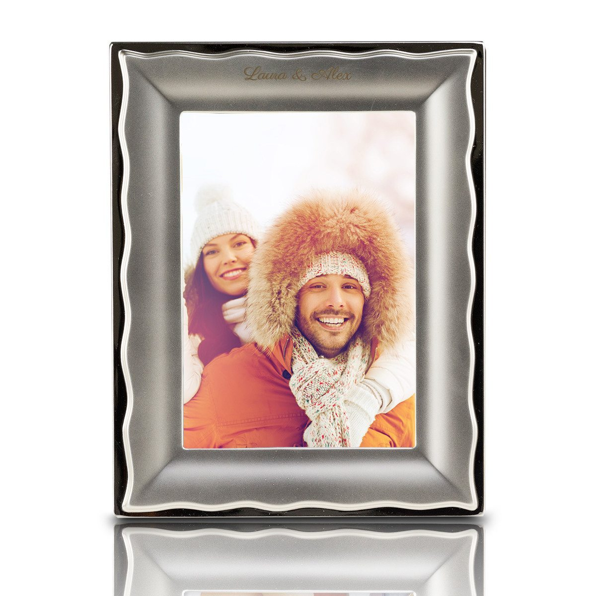 "PERSONALIZED SILVER PHOTO FRAME ""TONI"""