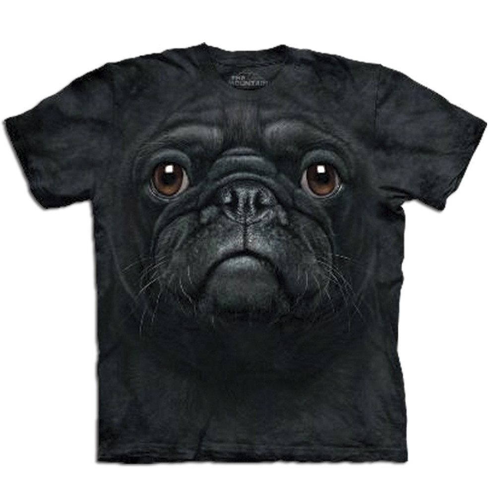 Camiseta Big Face 3D - Pug - XL