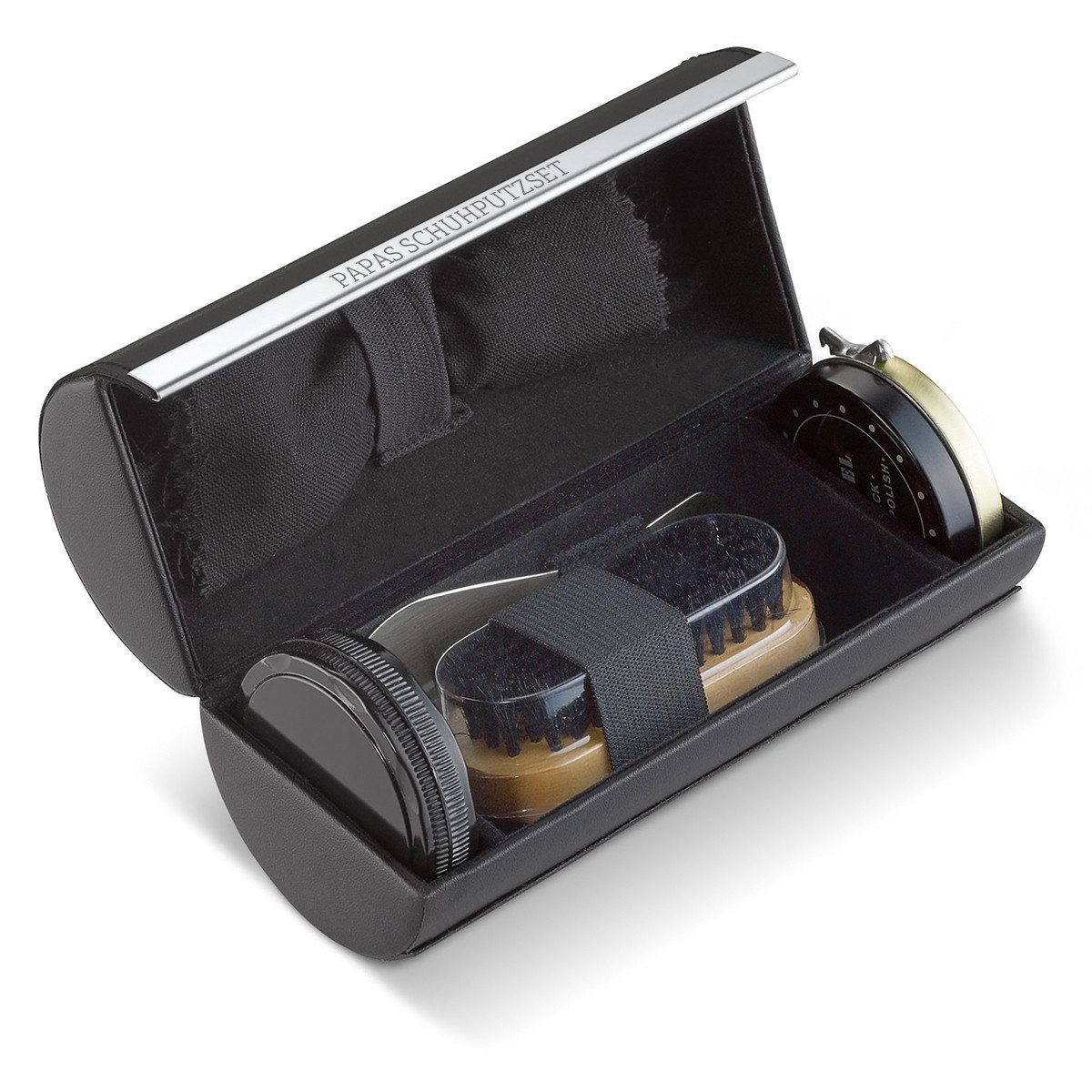 shoe cleaning set open