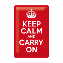 Blechschild - Keep calm and carry on
