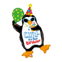 """PINGUIN CHILL IT´S YOUR BIRTHDAY 102 CM/ 40 """""""