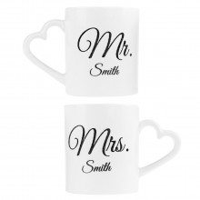 Tazas Mr. y Mrs personalizables