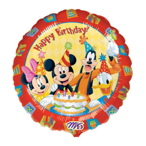 "Globo de helio ""Happy Birthday"" (Mickey Mouse)"