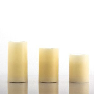 Set de 3 velas aromáticas LED