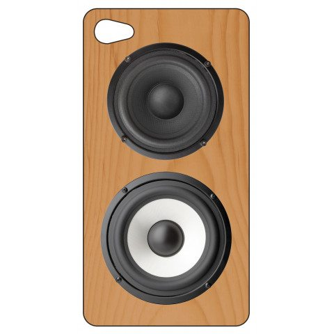 Carcasa para Iphone-4 'Altavoces de madera-retro'