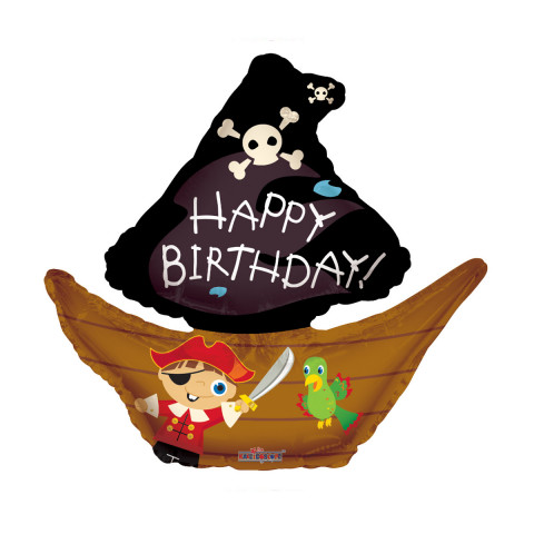 "Globo de helio ""Happy Birthday"" (Barco pirata)"